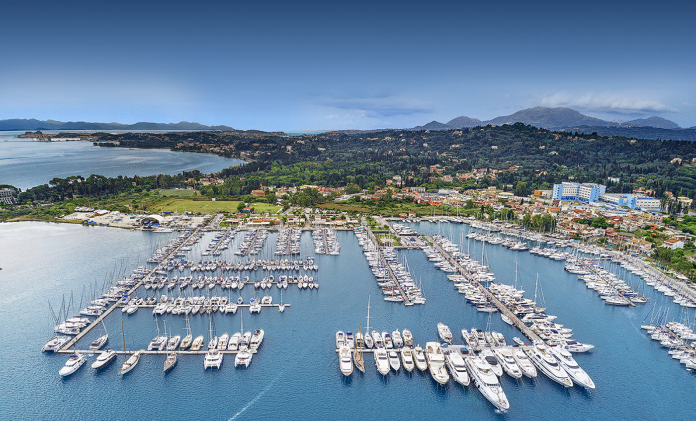 Gouvia marina aerial photo